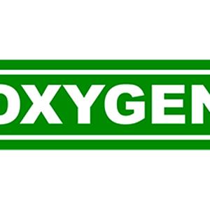Aufkleber OXYGEN grün