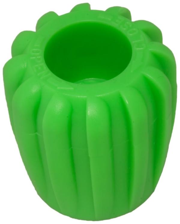 DIR ZONE Ventilhandrad Rubber Knob grün