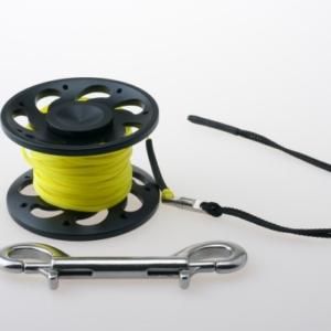 RiFF Spool Aluminium schwarz 15 m Doppelender