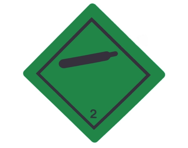 Gefahrgutaufkleber Klasse 2 Gase